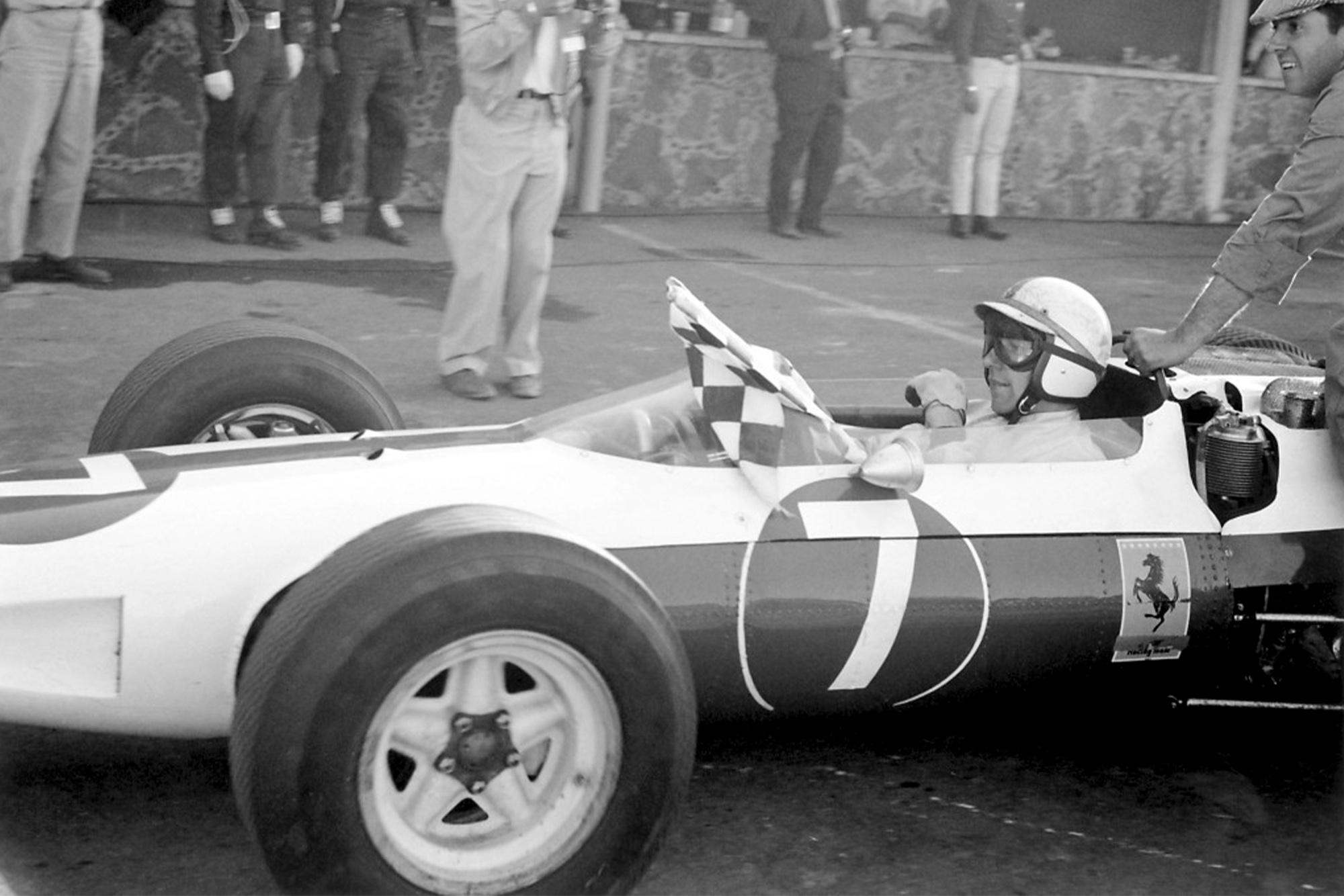 John Surtees after winning the 1964 Formula 1 world championship