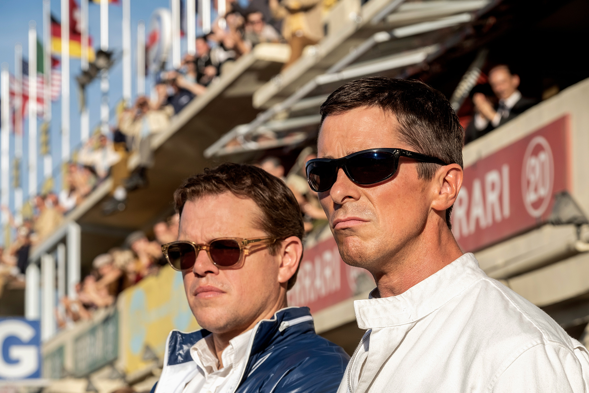 Christan Bale and Matt Damon in Le Mans 66 - the story of Ford vs Ferrari at Le Mans