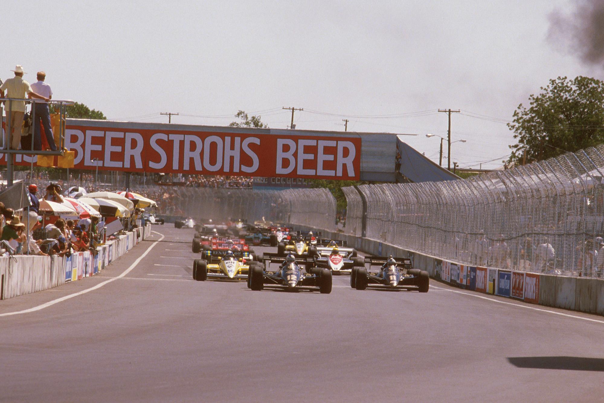The start of the 1984 Dallas Grand Prix