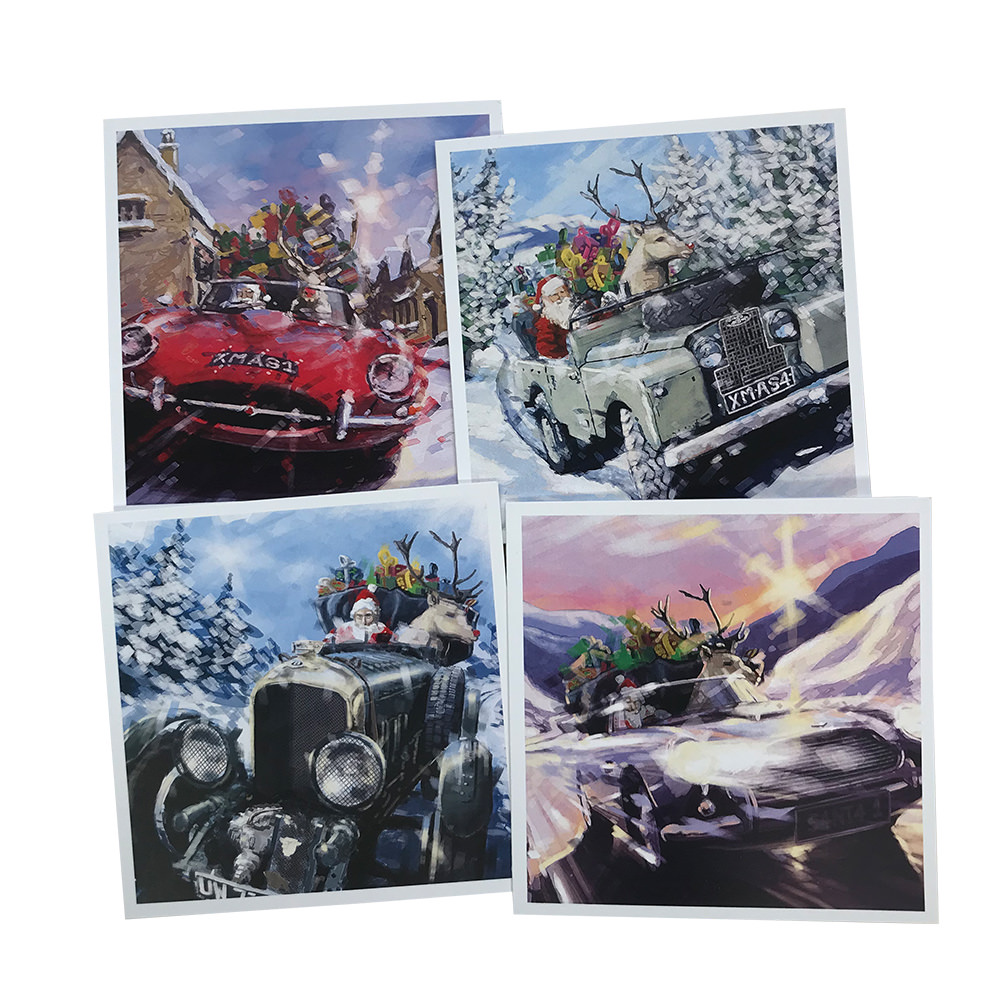 Product image for Best of British | Andrew Hill | Christmas Cards | 4 Pack