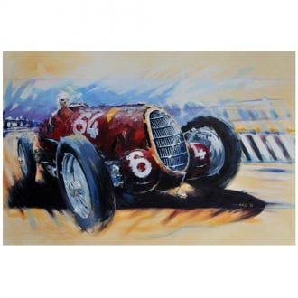 Product image for Alfa Romeo 8C-35 - Coppa Ciano - 1936   Andrew Hill   Limited Edition print