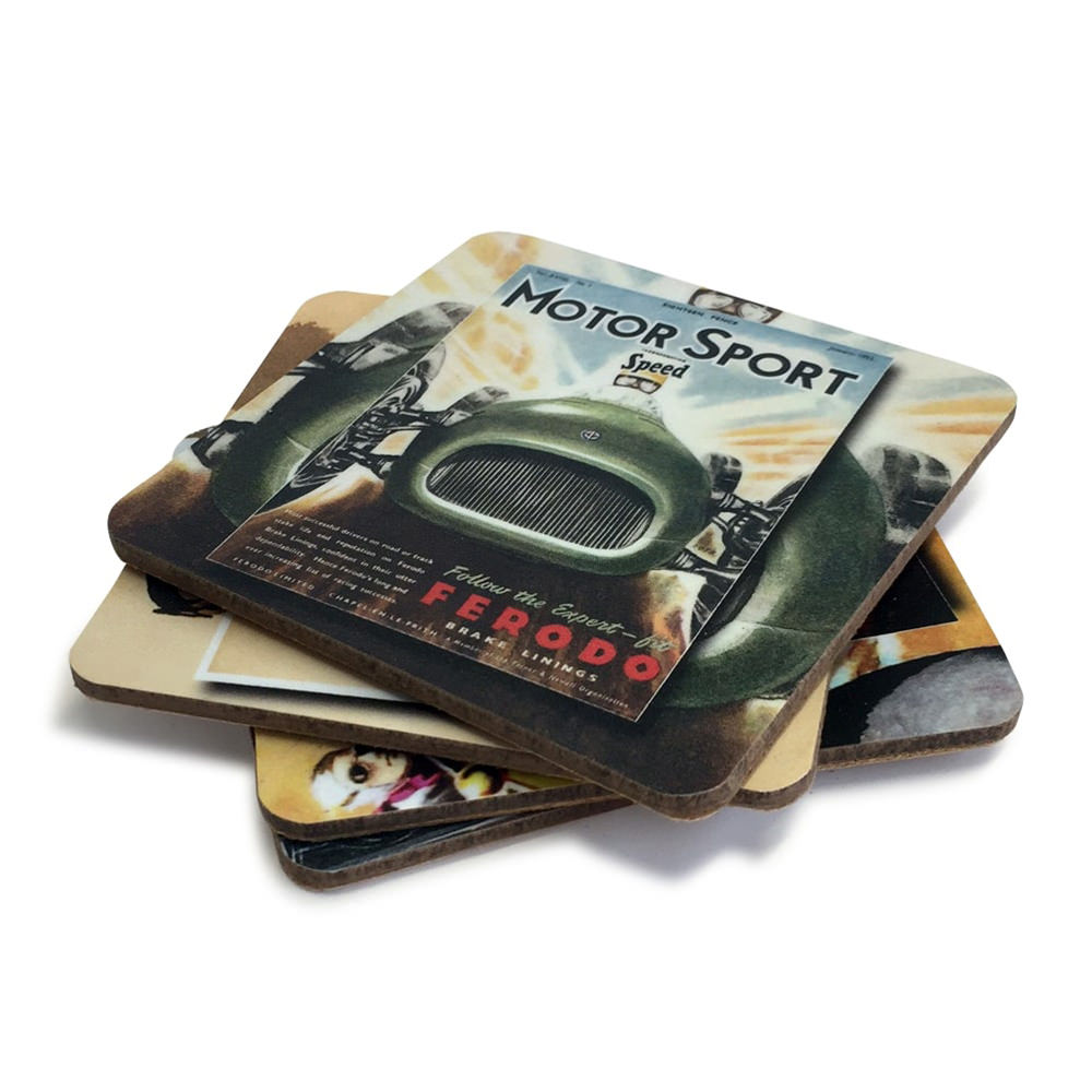 Product image for Four-piece Coaster Set | Motor Sport
