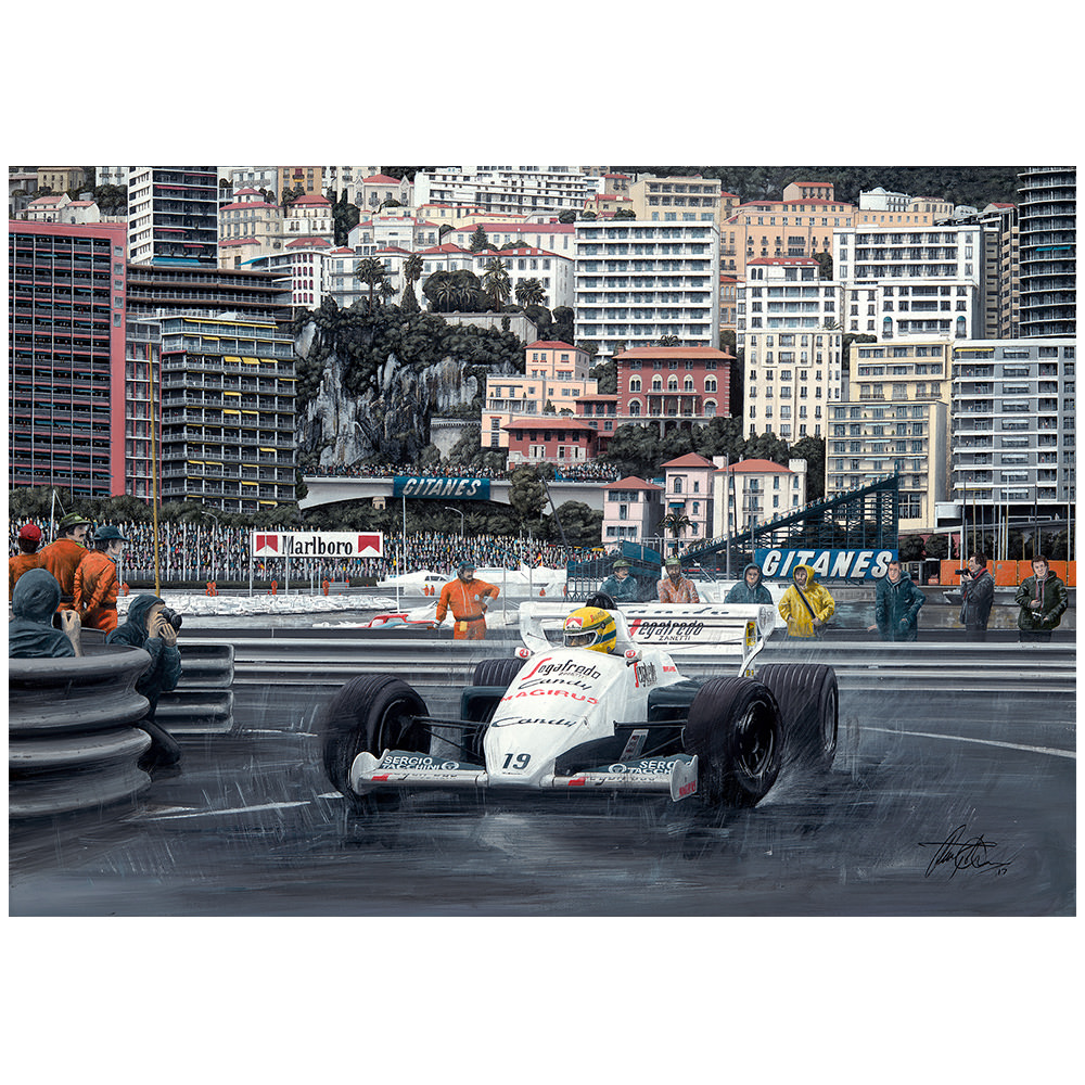 Product image for Ayrton Senna - Toleman – 1984 | David Johnson | Limited Edition print