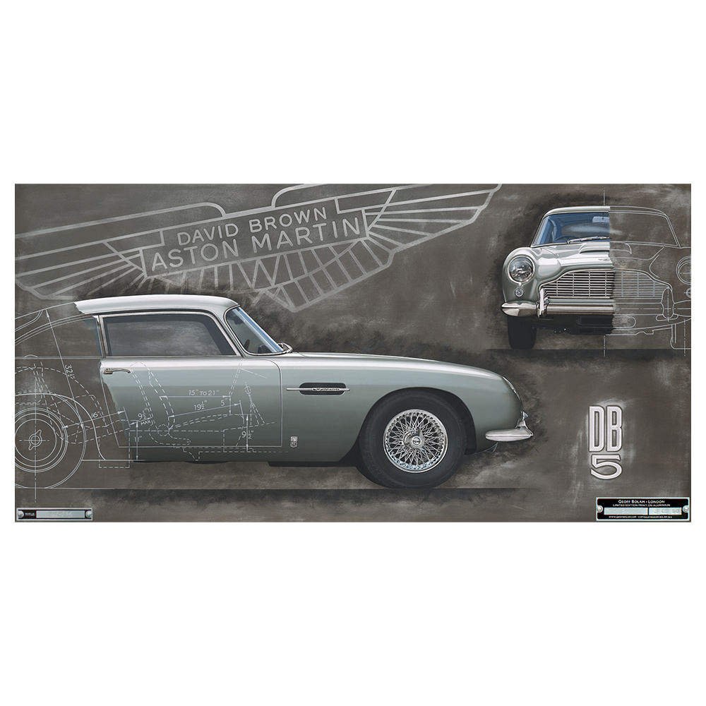 Product image for Aston Martin DB5 - 1963 | Geoff Bolam | Limited Edition print