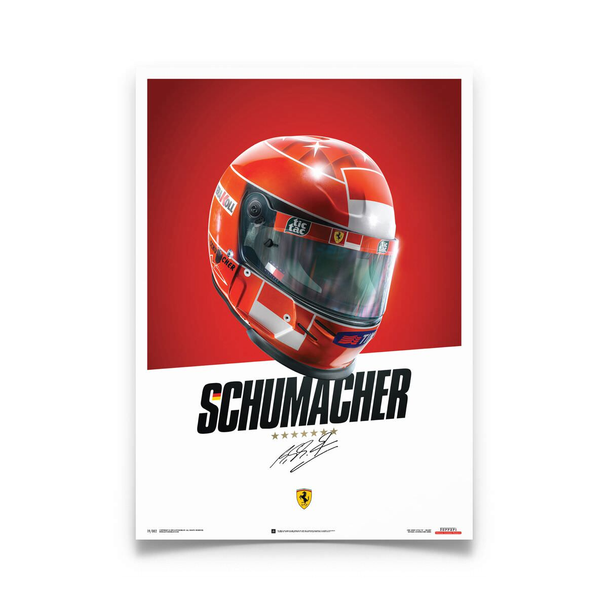 Product image for Michael Schumacher - Ferrari Helmet - 2000 | Automobilist | poster