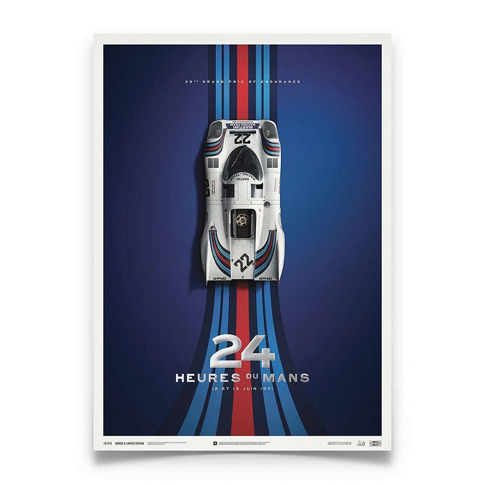 Product image for Martini Porsche 917K - Le Mans - 1971 | Automobilist | poster