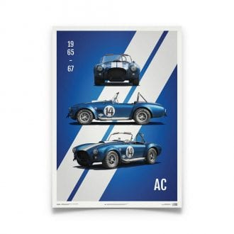 Product image for Shelby AC Cobra - Blue - 1965   Automobilist   Limited Edition print