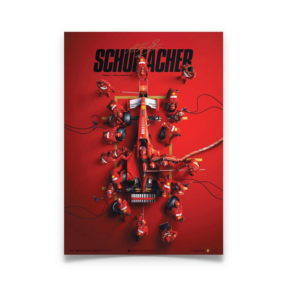 Product image for Michael Schumacher - Ferrari F1-2000 - Pit Stop   Automobilist   poster