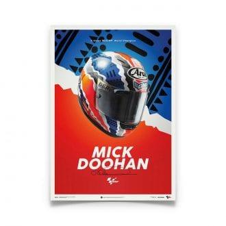 Product image for Mick Doohan - Helmet - 1999 | Automobilist | poster
