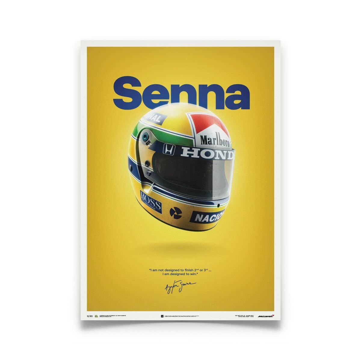 Product image for Ayrton Senna – Helmet – 1988 | Automobilist | poster