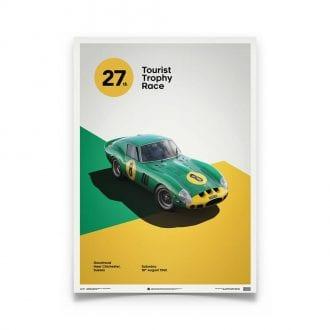 Product image for Ferrari 250 GTO - Green - 1962 Goodwood TT   Automobilist   Limited Edition print