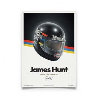 Product image for James Hunt - McLaren Helmet - 1976 | Automobilist | poster