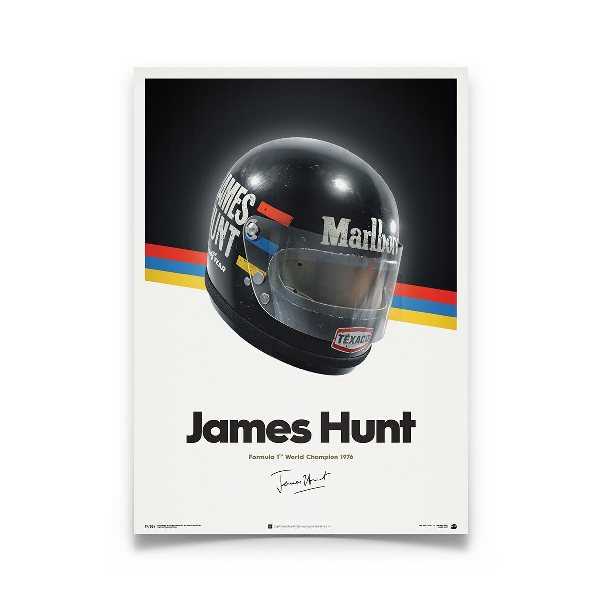 Product image for James Hunt - McLaren Helmet - 1976 | Automobilist | poster