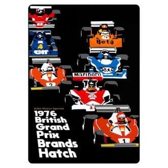 Product image for Niki Lauda – James Hunt – 1976 British Grand Prix   Joel Clark   contemporary poster