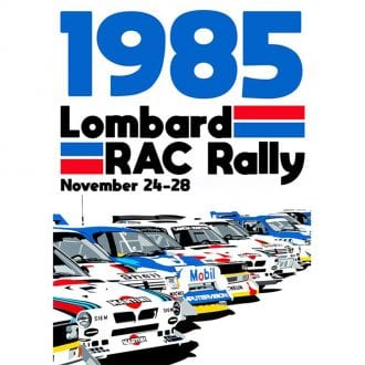 Product image for WRC Group B   Lombard RAC Rally - 1985   Joel Clark   contemporary poster