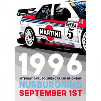 Product image for International Touring Car Championship - Nurburgring - 1996   Joel Clark   contemporary poster