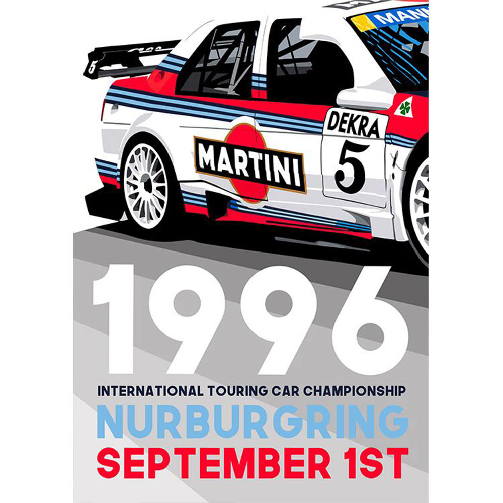 Product image for International Touring Car Championship - Nurburgring - 1996 | Joel Clark | contemporary poster