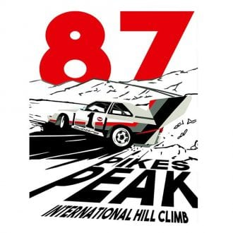 Product image for Walter Rohrl – Pikes Peak Hillclimb – Audi Quattro E2   Joel Clark   contemporary poster