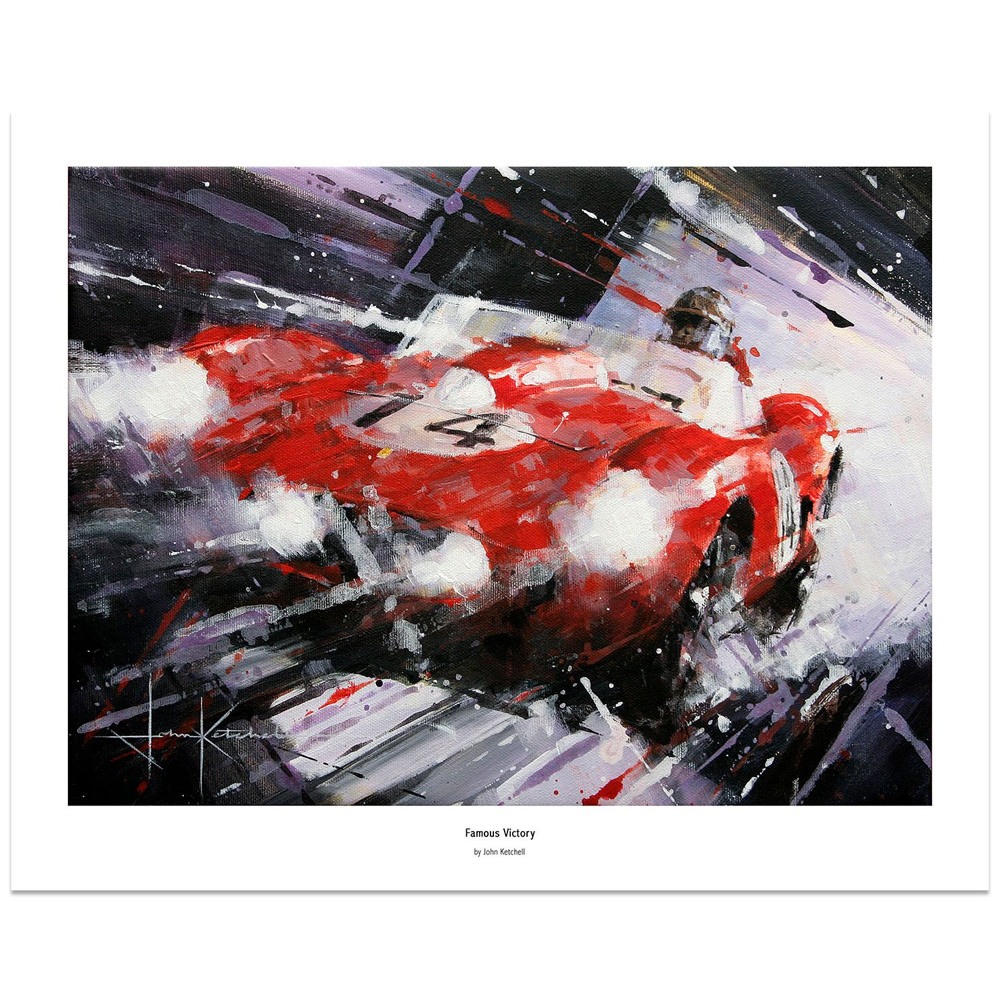 Product image for Famous Victory | Phil Hill - Ferrari 250 - 1958 | Limited Edition print