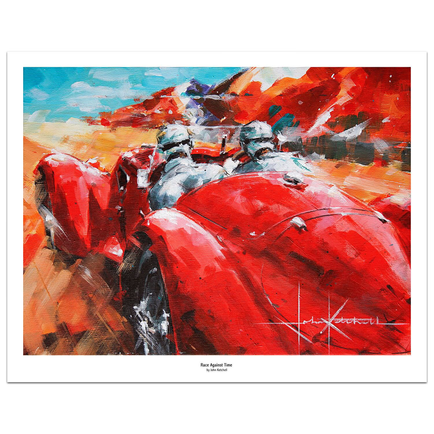 Product image for Race Against Time | Carlo Pintacuda - Alfa Romeo - 1938 Mille Miglia | Limited Edition print