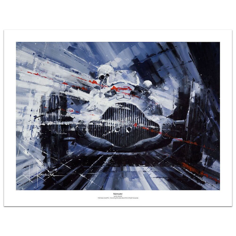 Product image for Rain Master | Rudolf Caracciola - Mercedes-Benz W154 - 1938 | Limited Edition print