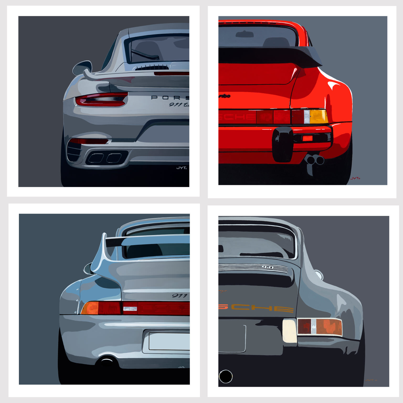 Product image for Porsche 911 modern classic: Limited Edition Print