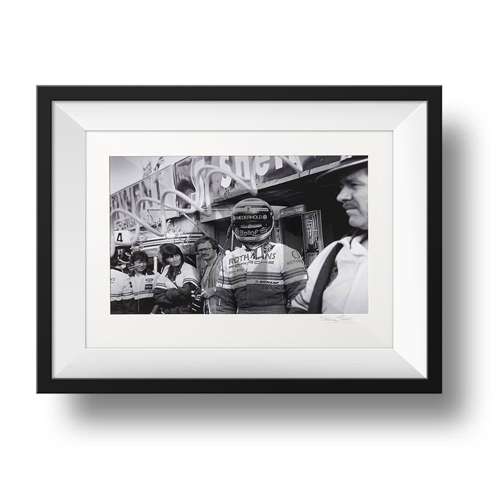 Product image for Stefan Bellof - Porsche - 1983 | signed Steve Theodorou | Limited Edition portrait