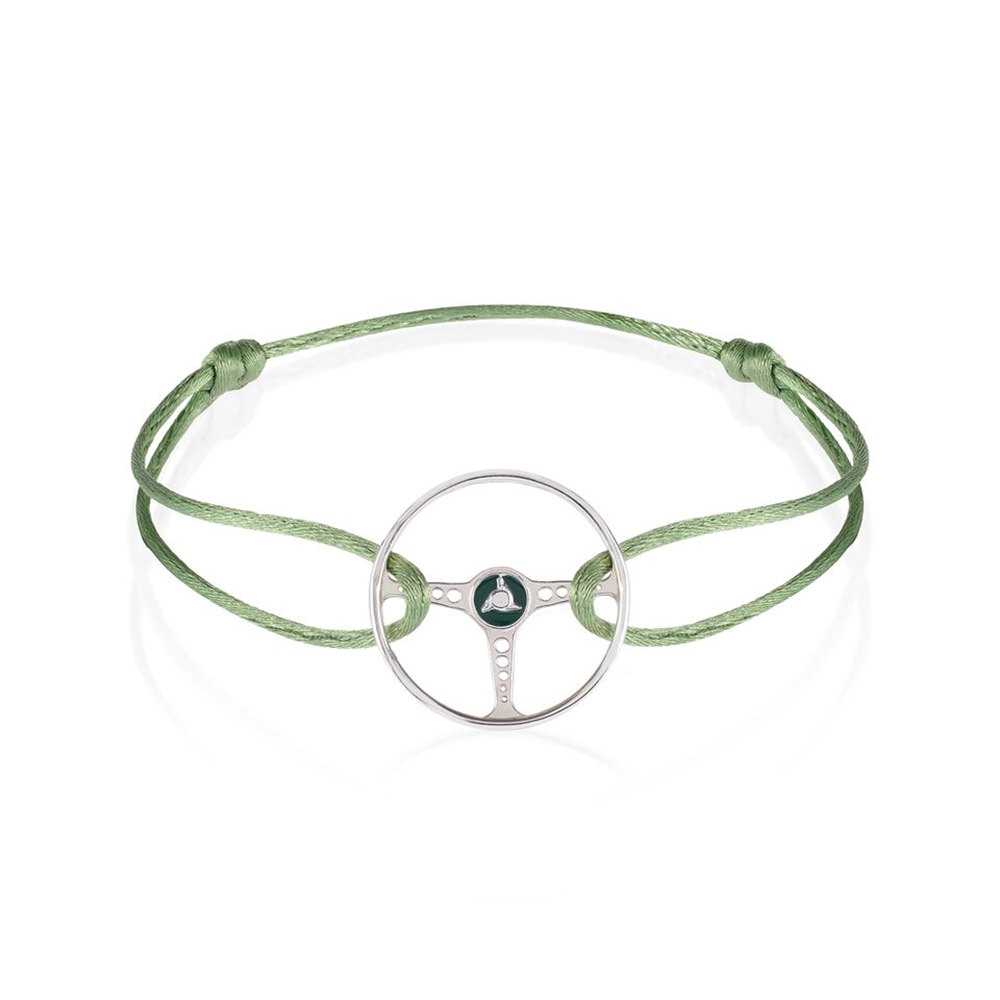 Product image for Steering Wheel - Racing Green | Almond Green Cord | Bracelet