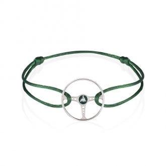 Product image for Steering Wheel - Racing Green | British Racing Green Cord | Bracelet