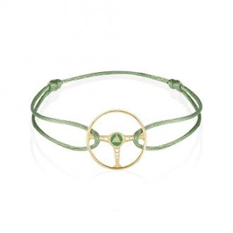 Product image for Steering Wheel - Gold / Racing Green   Almond Green   Bracelet
