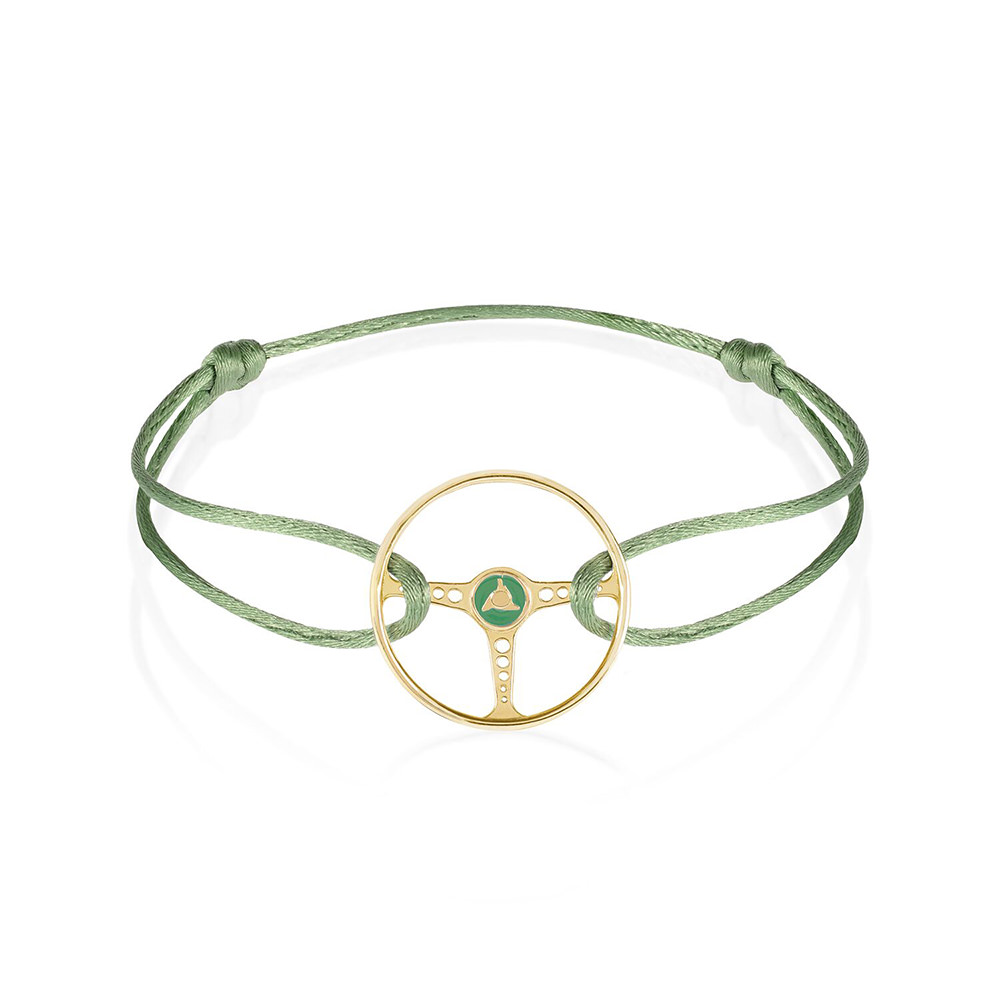 Product image for Steering Wheel - Gold / Racing Green | Almond Green | Bracelet