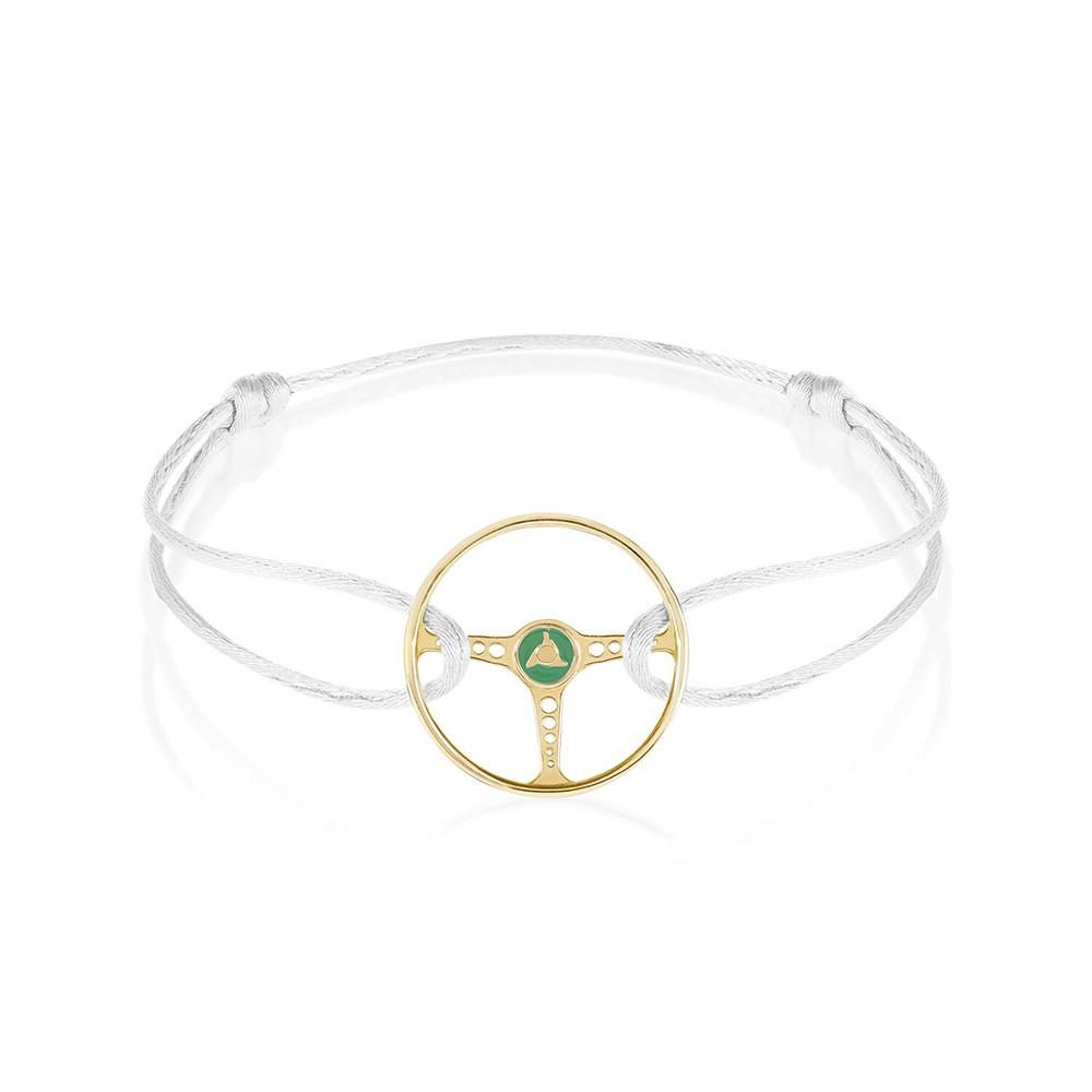 Product image for Steering Wheel - Gold | White Fox Cord | Bracelet