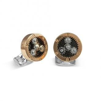 Product image for Mechanical Gear   Rose Gold   Cufflinks