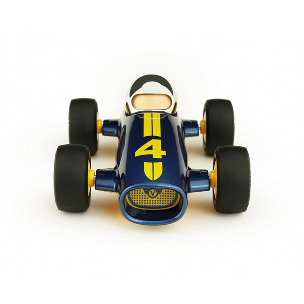 Product image for Malibu Racing Car - No 4 | Blue | Toy Model