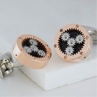 Product image for Mechanical Gear - Rose Gold Light | Cufflinks