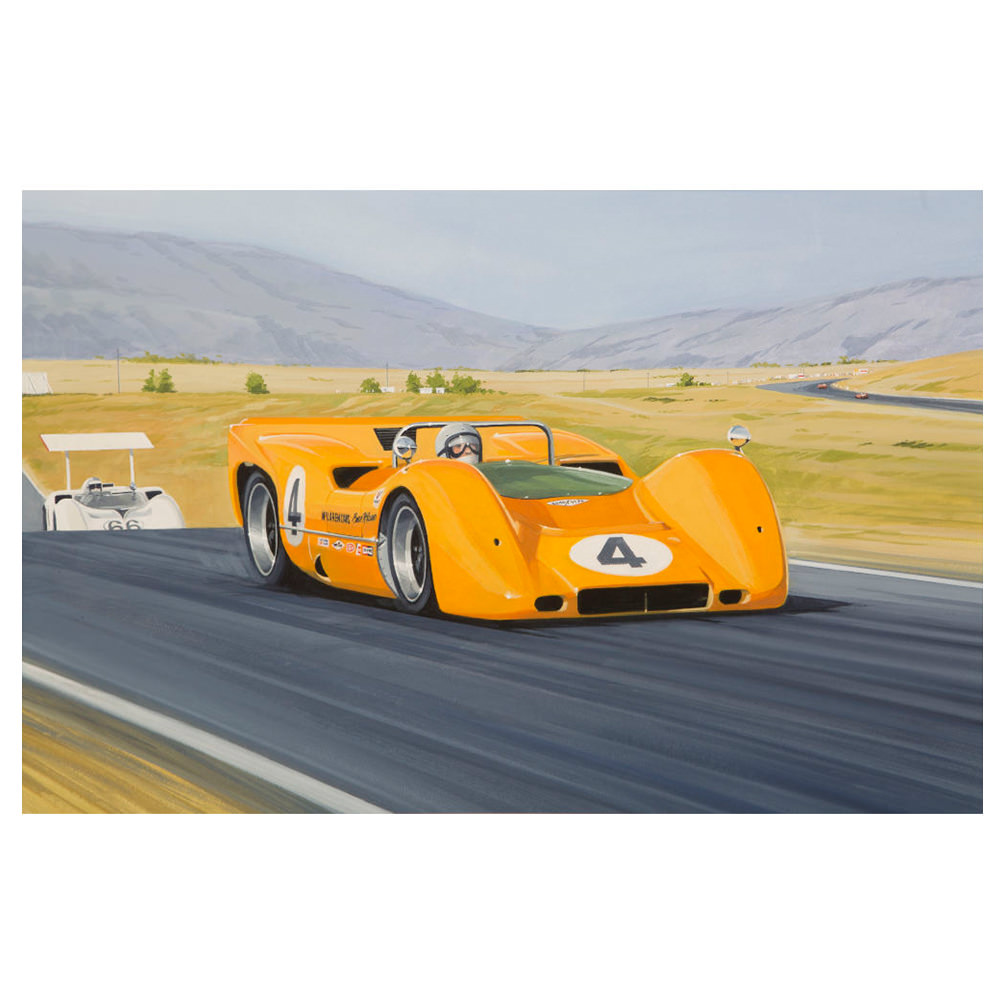 Product image for McLaren M6A - Bruce McLaren - 1967 | signed by artist | Limited Edition print
