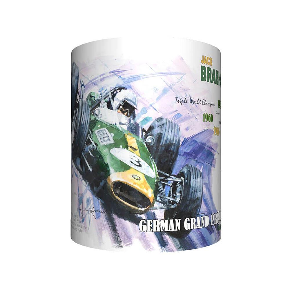 Product image for Jack Brabham & Brabham Repco - Artwork   John Ketchell   Mug