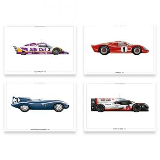 Product image for The Le Mans Winners | Limited Edition print collection | signed by 8 Le Mans Winners