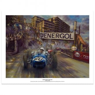 Product image for Catch Me If You Can | Stirling Moss - Lotus - 1961 | Paul Dove | Limited Edition Print