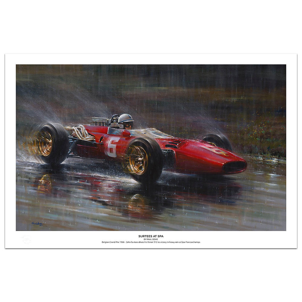 Product image for John Surtees - Ferrari 312 - Spa-Francorchamps | Paul Dove | Limited Edition print