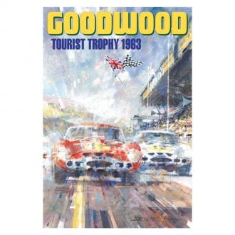 Product image for Goodwood Tourist Trophy   Graham Hill - Ferrari - 1963   Dexter Brown   Limited Edition print