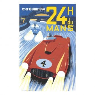Product image for Froilan Gonzales - Ferrari 375 - Le Mans 1954    Limited Edition poster