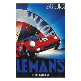 Product image for Jochen Rindt - Ferrari 365P - Le Mans 1965   Limited Edition poster