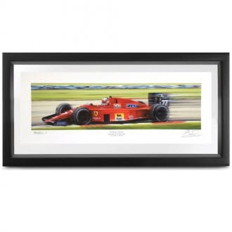 Product image for People's Champion   Nigel Mansell - Ferrari 640 - 1989   signed Nigel Mansell   print
