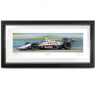 Product image for Champion Paradise   Nigel Mansell -  Newman Haas Lola - 1993   signed Nigel Mansell   print