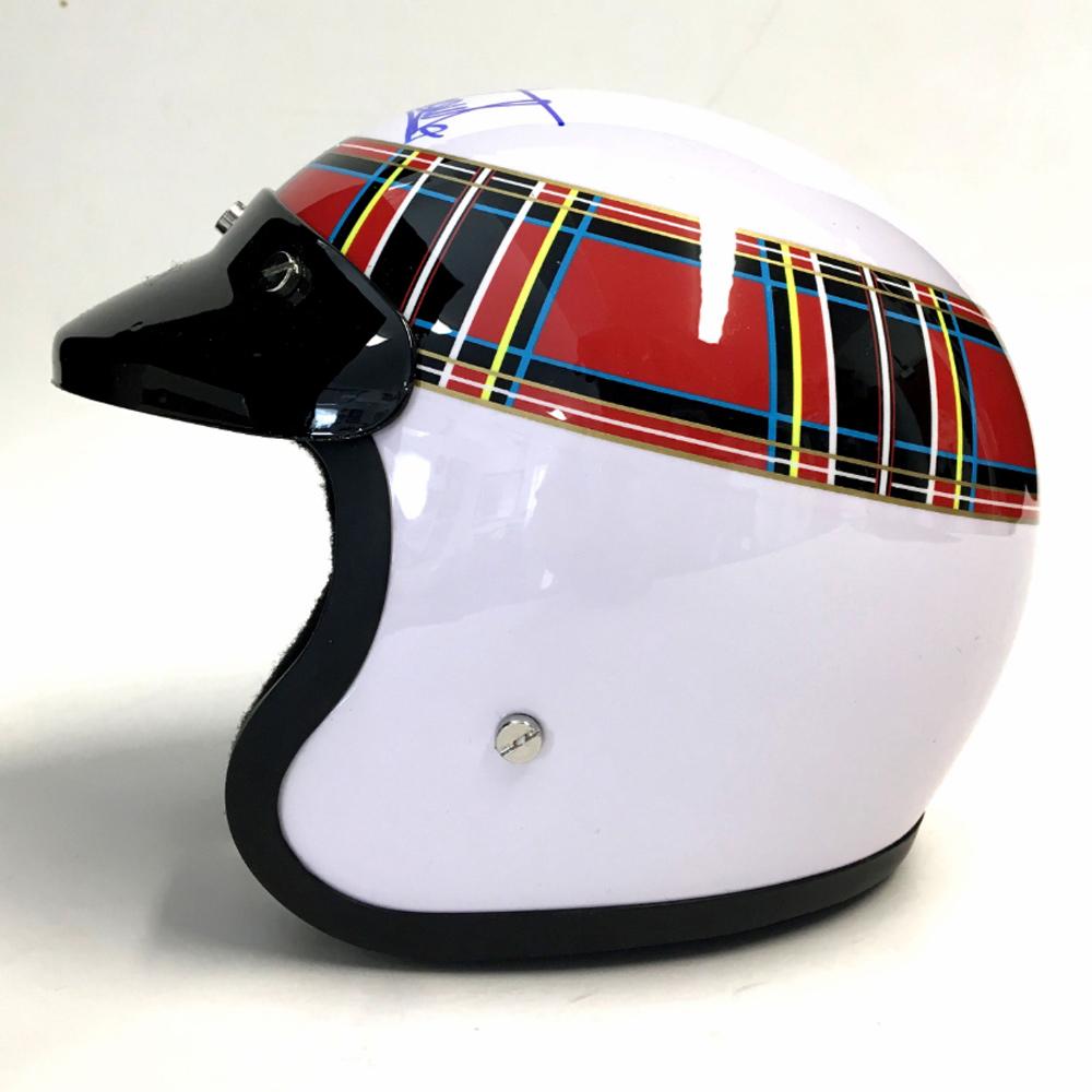 Product image for Jackie Stewart - Tyrrell - 1969 | replica helmet | signed Jackie Stewart | 1/2 scale