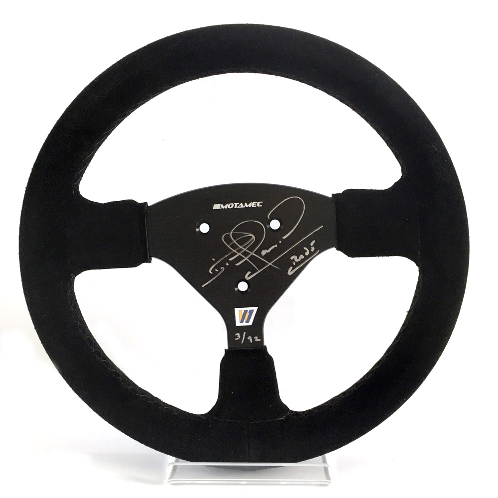 Product image for Nigel Mansell - Williams FW14B - 1992 | replica steering wheel | signed Nigel Mansell | full-size