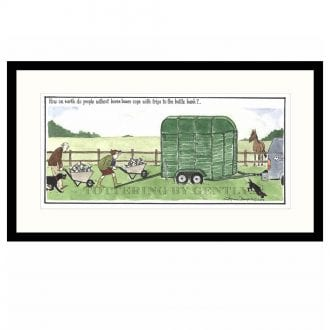 Product image for Bottle Bank   Tottering-by-Gently   Annie Tempest   Framed Print