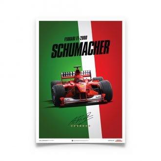 Product image for Michael Schumacher – Ferrari F1-2000 – Italy   Automobilist   poster