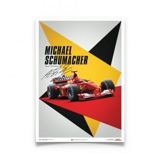 Product image for Michael Schumacher – Ferrari – 2000   Automobilist   poster